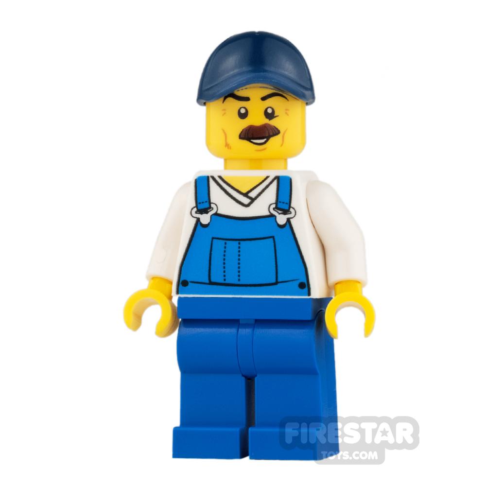 LEGO City Mini Figure - Bushy Moustache and Overalls