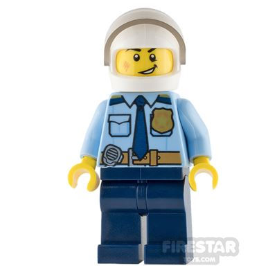 LEGO City Mini Figure - Police - Gold Badge and Open Mouth Smile