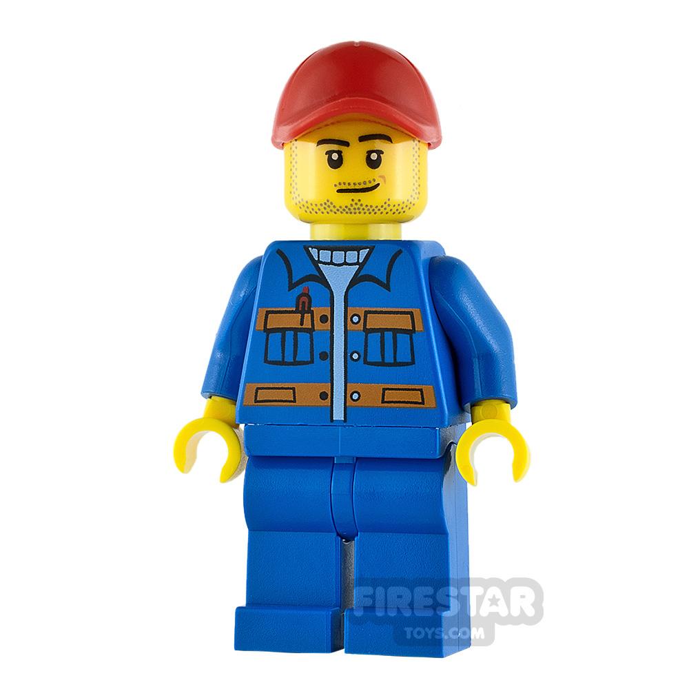 LEGO City Minifigure Jacket with Orange Stripes