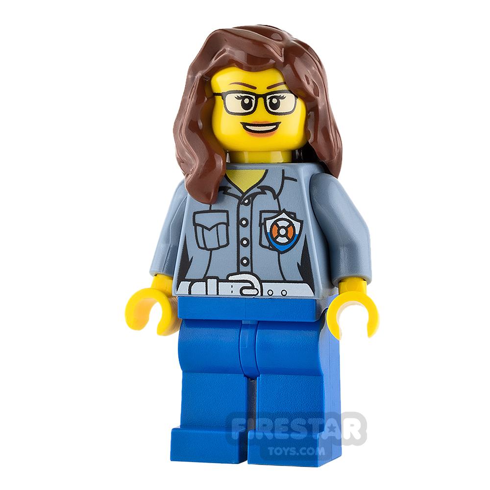 LEGO City Mini Figure - City Coast Guard - Female ATV Driver