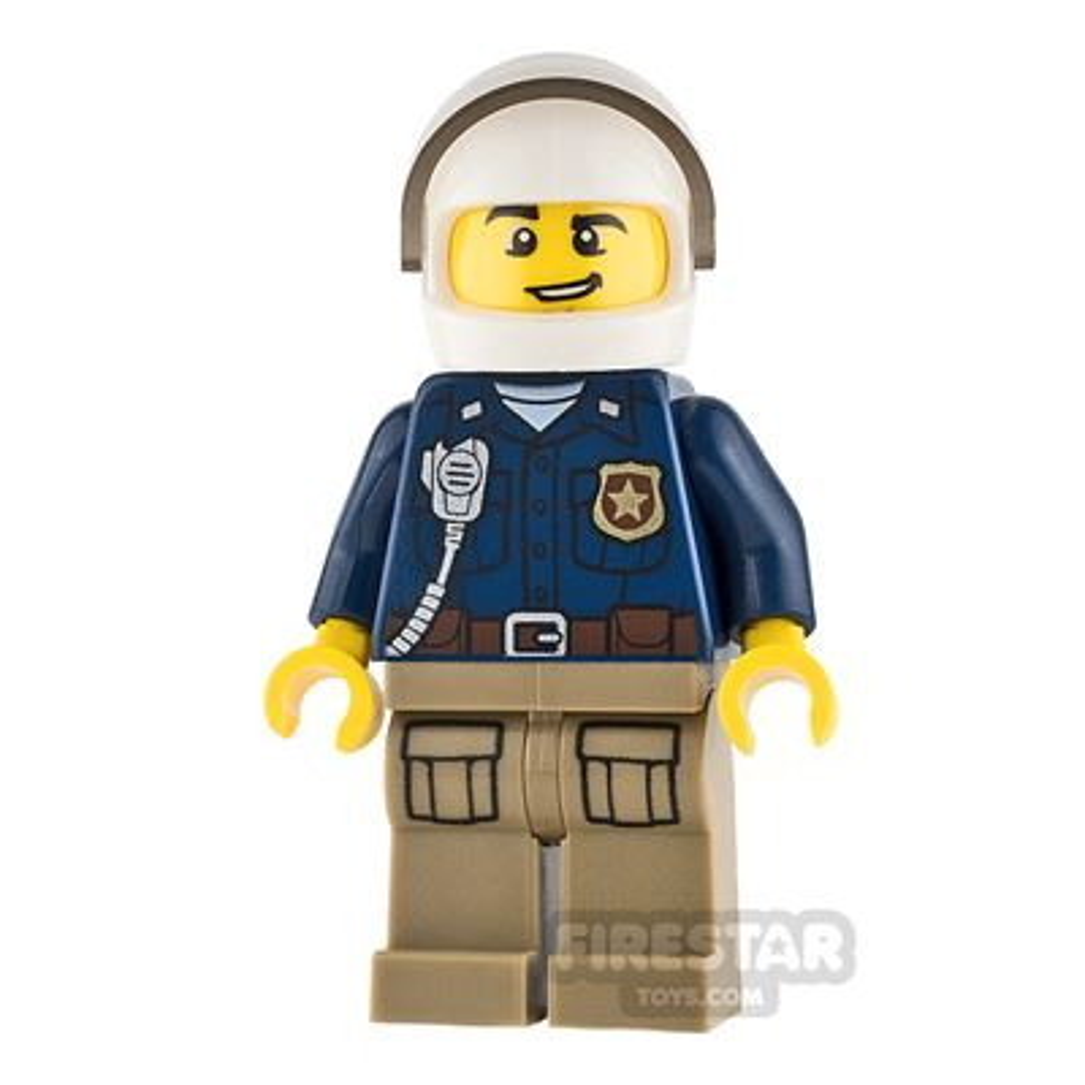 LEGO City Mini Figure - Mountain Police - Male Officer - Quad Bike