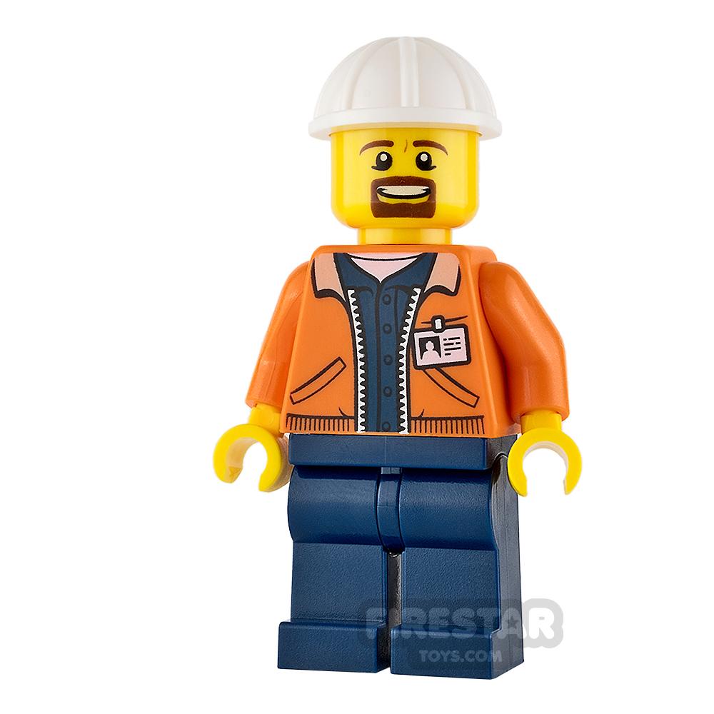 LEGO City Mini Figure - Miner - Equipment Operator with Beard