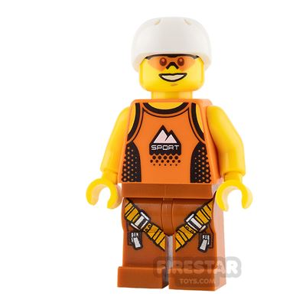LEGO City Mini Figure - Orange Sports Vest and Sunglasses