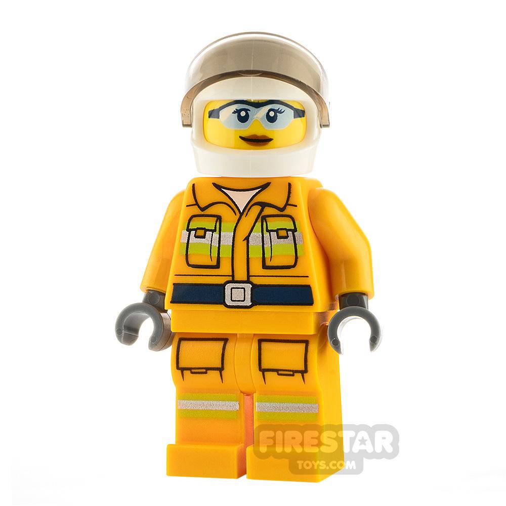 LEGO City Minifigure Firewoman with Reflective Stripes