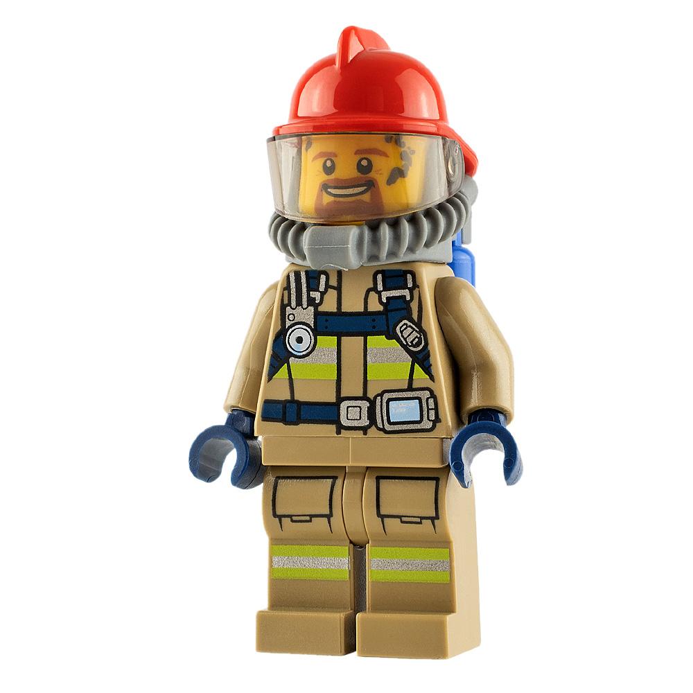 LEGO City Minifigure Fireman Goatee