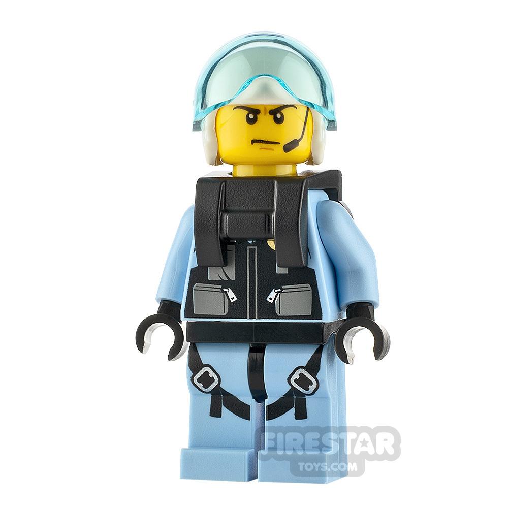 Lego City Minifigure Jet Pilot with Neck Bracket