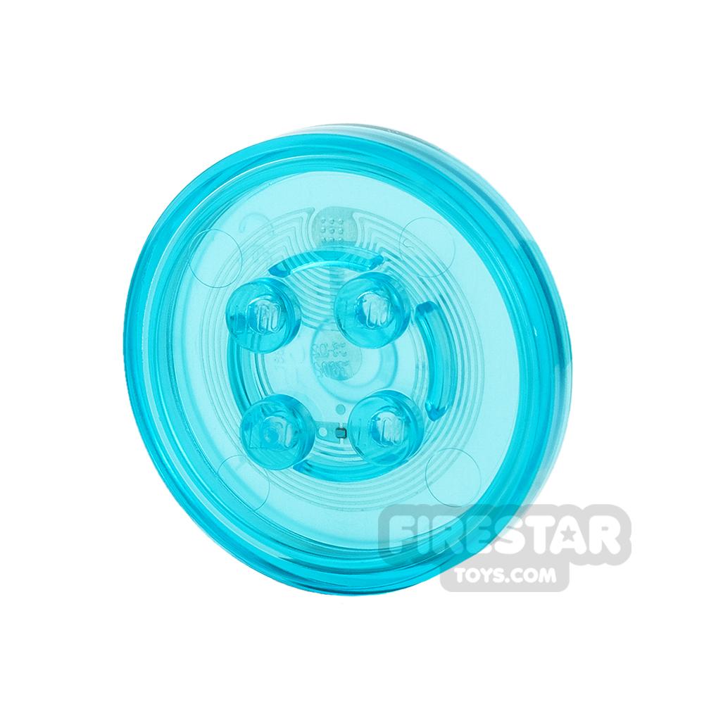 LEGO Dimensions Toy Tag - Plain Tag - Trans Light Blue