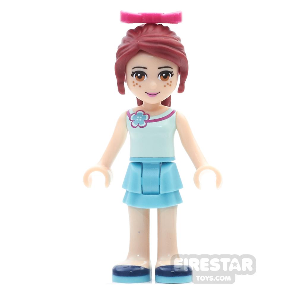 LEGO Friends Mini Figure - Mia - Medium Azure Skirt