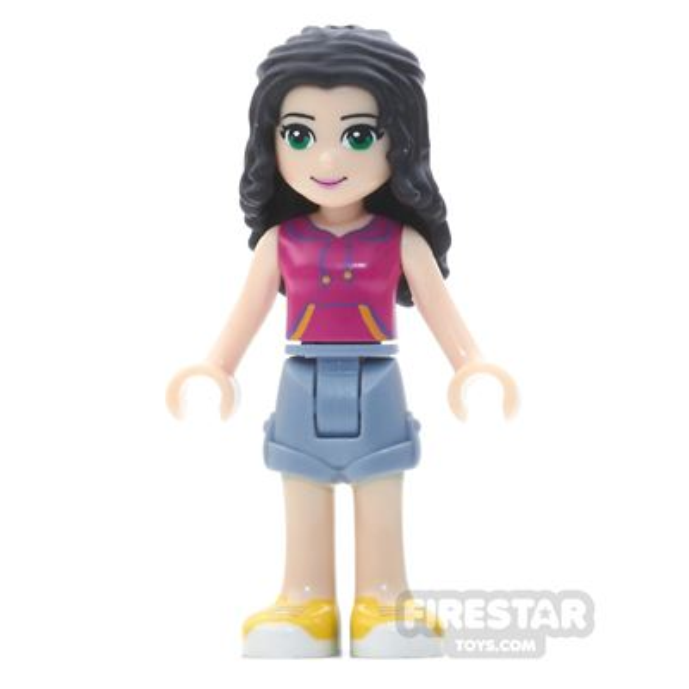 LEGO Friends Mini Figure - Emma - Sand Blue Shorts, Magenta Top