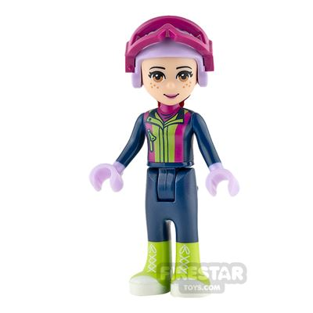 LEGO Friends Mini Figure - Mia - Dark Blue Trousers and Ski Vest