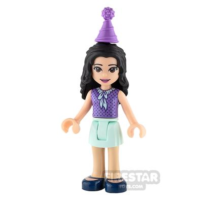 LEGO Friends Mini Figure - Emma - Lavender Top and Party Hat