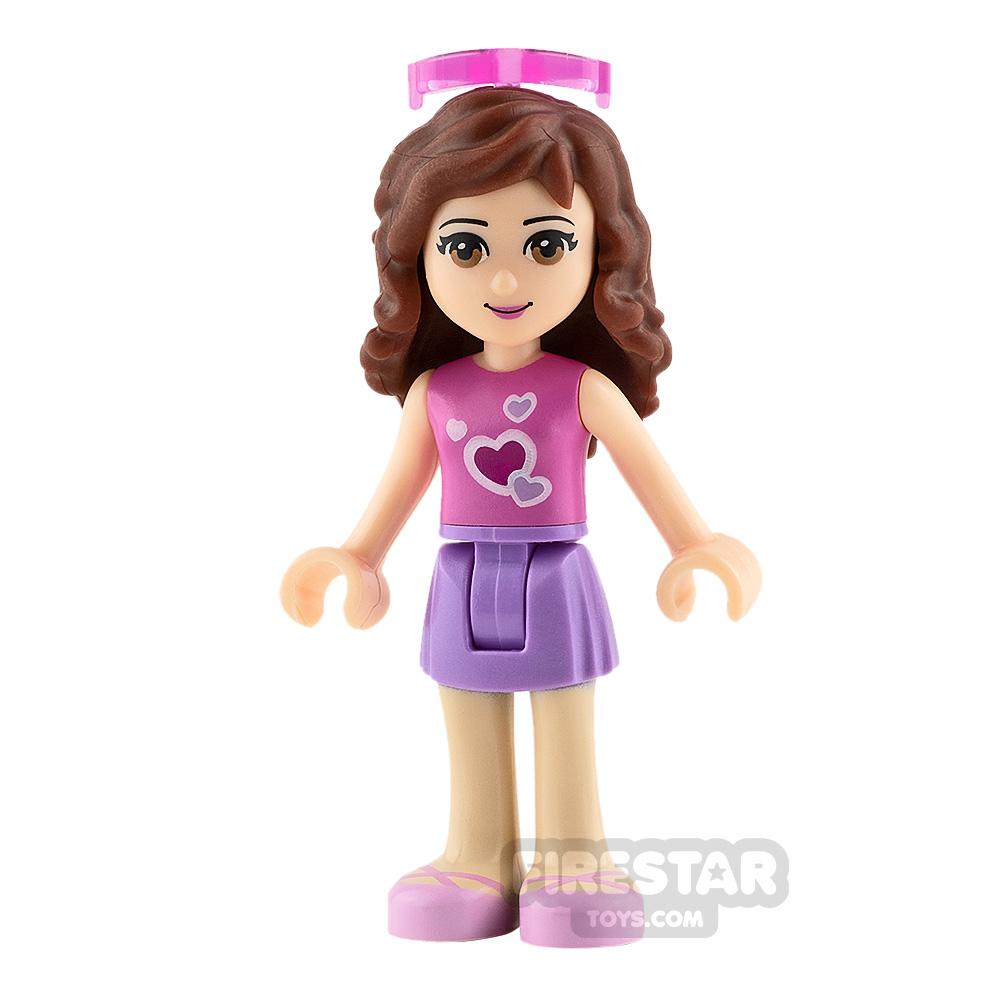 LEGO Friends Mini Figure - Olivia - Medium Lavender Skirt