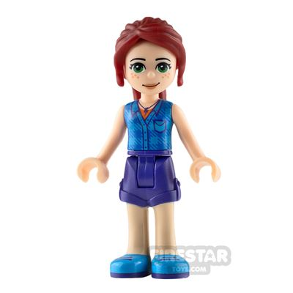 LEGO Friends Mini Figure - Mia - Dark Azure Plaid Shirt