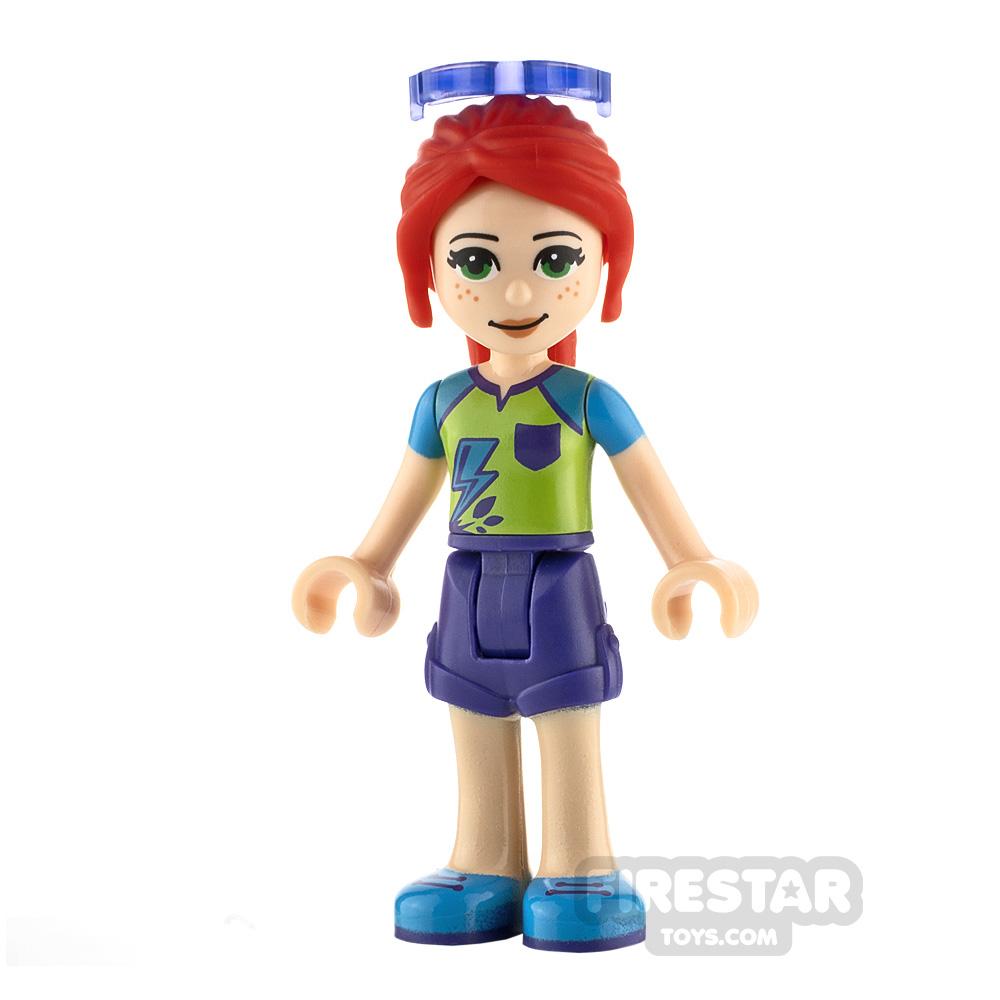 LEGO Friends Minifigure Mia Purple Shorts and Lime Top