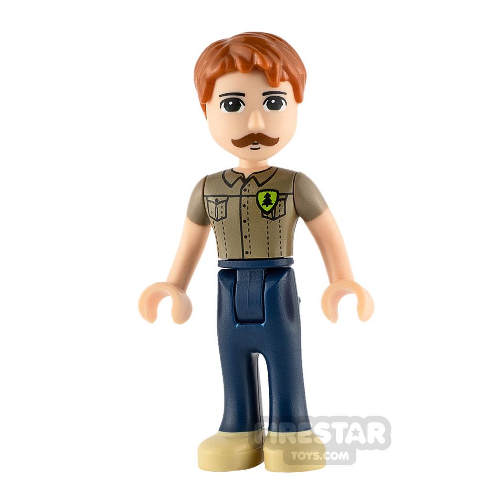 LEGO Friends Minifigure Angus Dark Tan Shirt