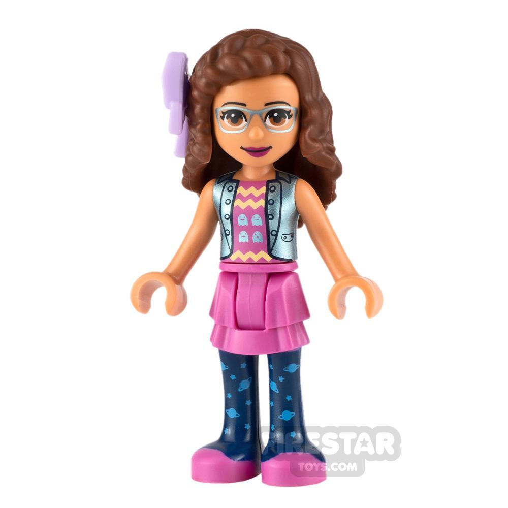 LEGO Friends Minifigure Olivia Shiny Blue Jacket