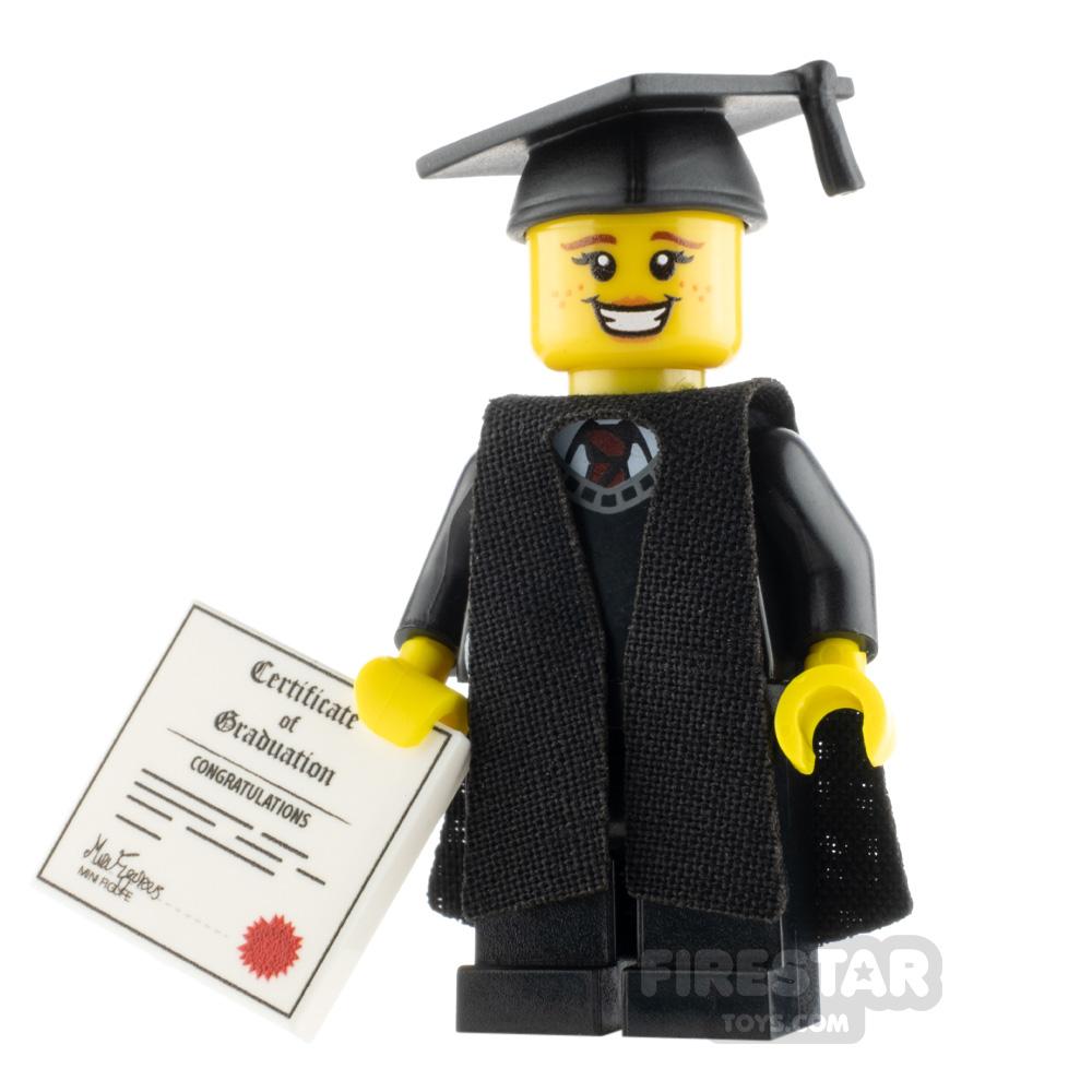 Custom Design Mini Figure - Graduate - Female