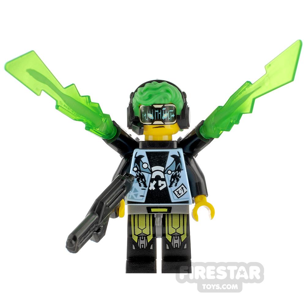 Custom Minifigure Cyberpunk Male