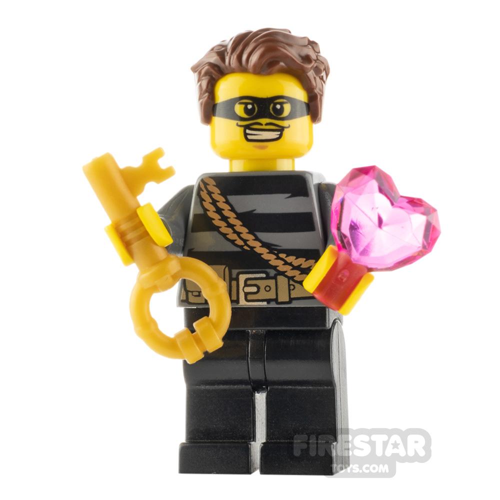 Custom Minifigure Heart Thief Male