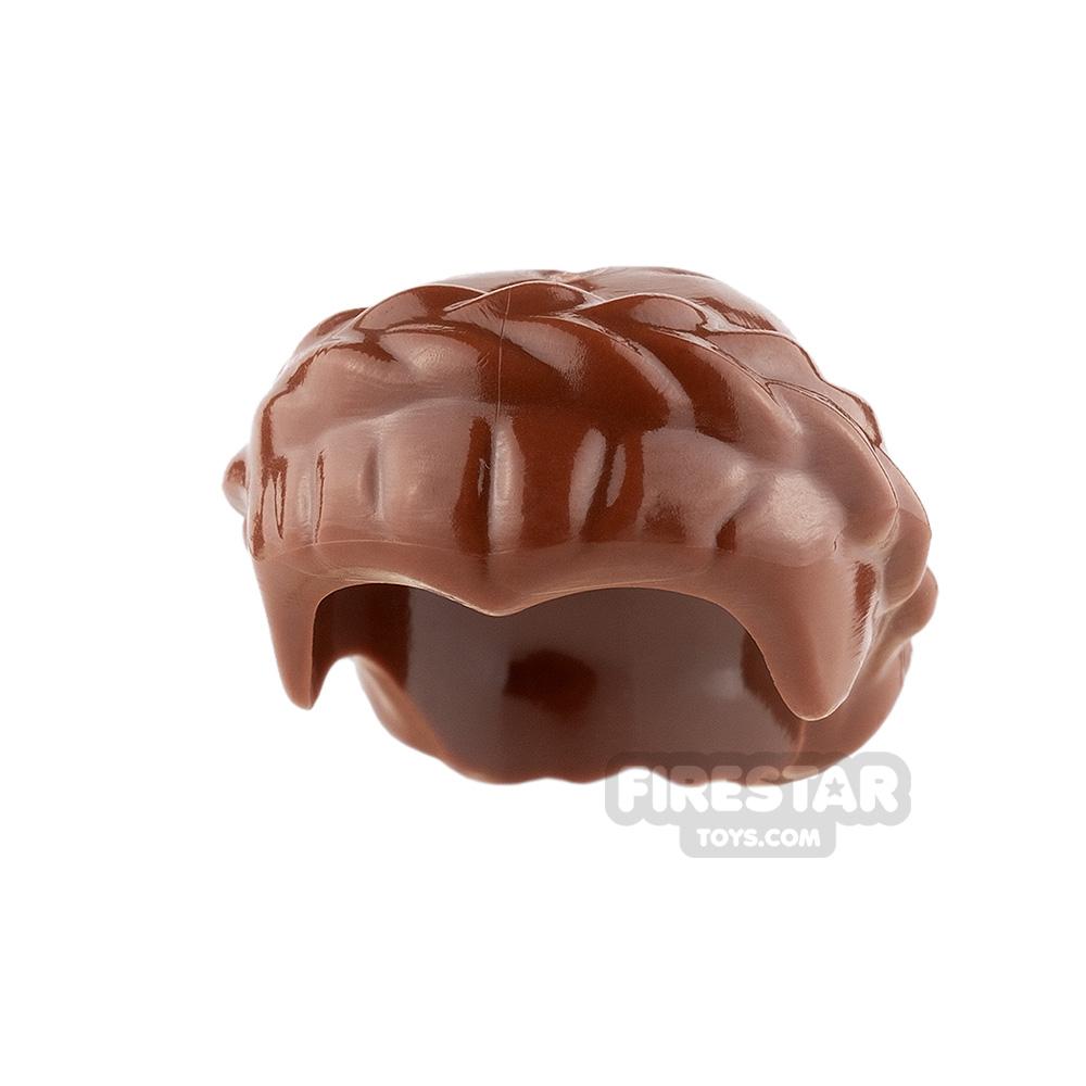 LEGO Hair - Short Braid - Reddish Brown
