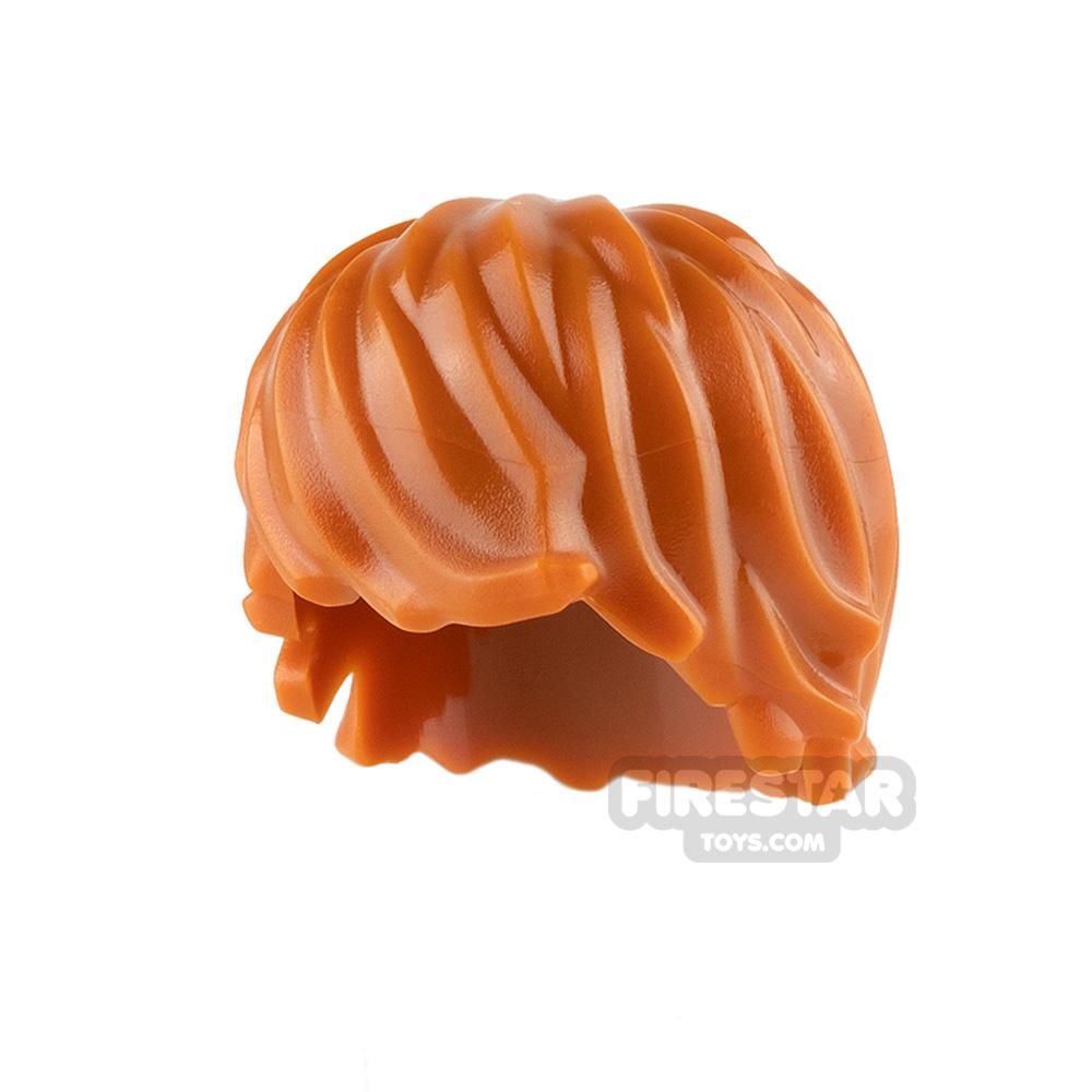 LEGO Hair - Choppy - Dark Orange