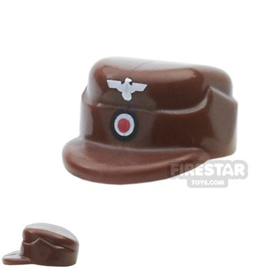 BrickForge - Field Cap - Reddish Brown with Cockade and Eagle Print