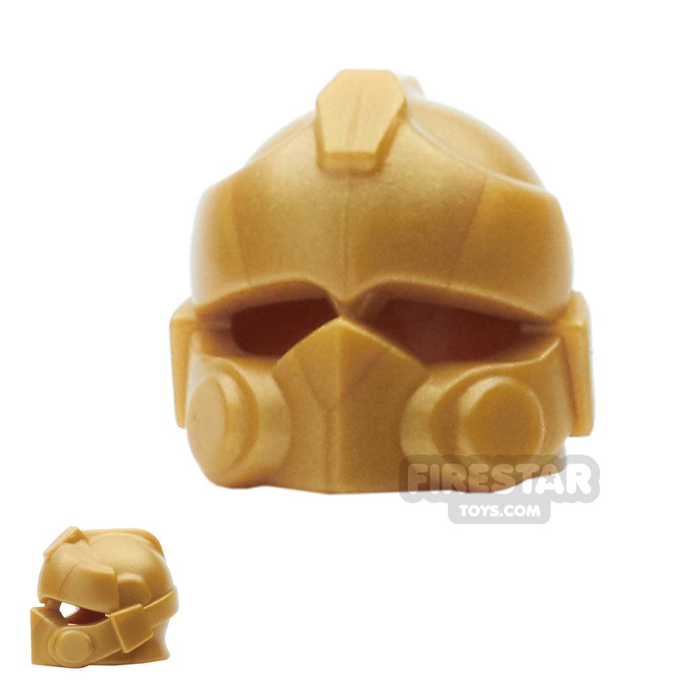 BrickWarriors - Resistance Trooper Helmet - Pearl Gold