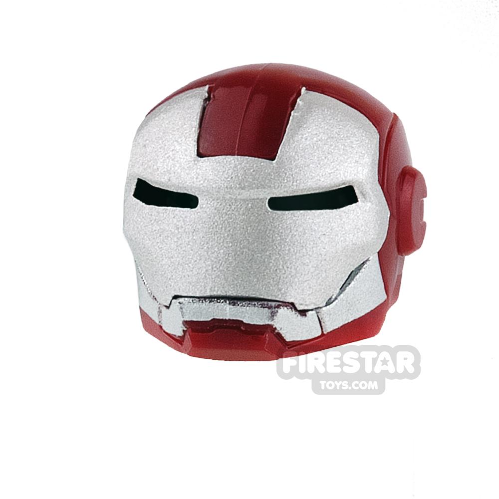 Clone Army Customs - MK Patriot Helmet - Dark Red and Silver