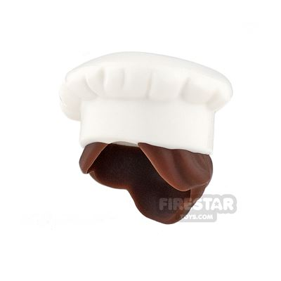 LEGO - Chef Hat - White - with Hair