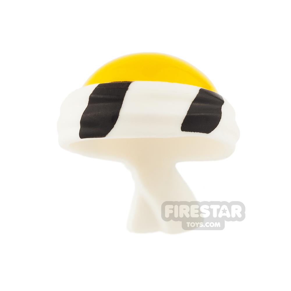 LEGO - Black and White Bandana with Bald Head