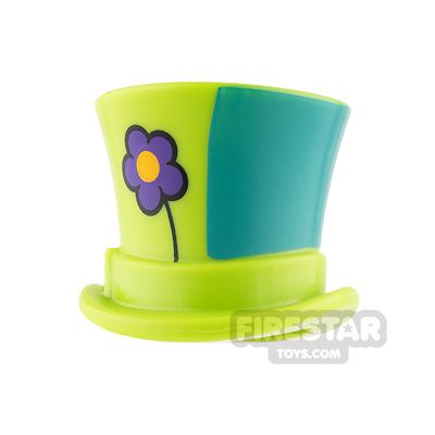 LEGO - Top Hat with Ribbon - Lime with Flower