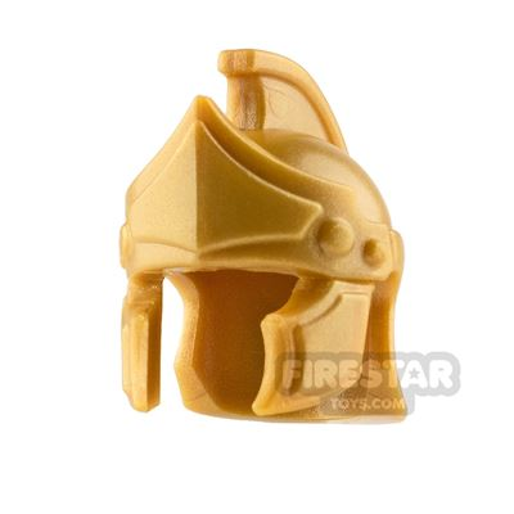 BrickWarriors - Greco Roman Helmet - Pearl Gold