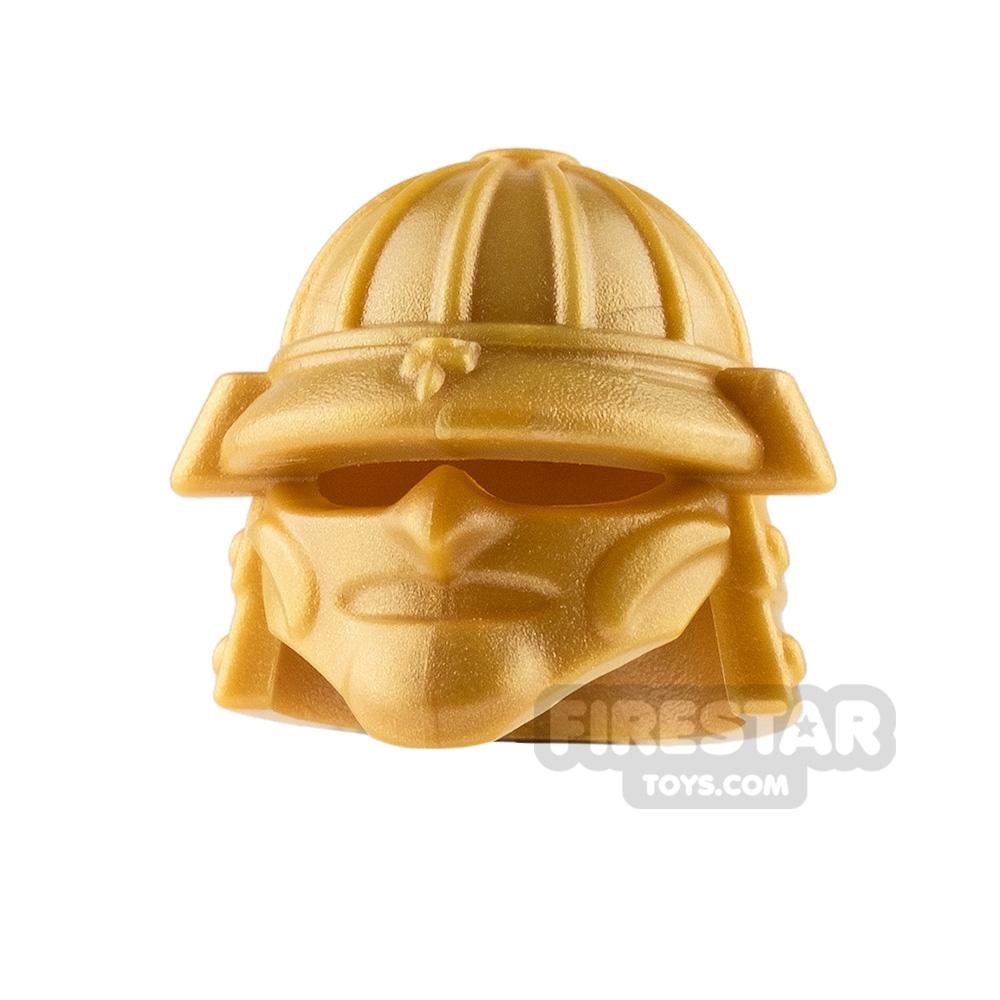 BrickWarriors - Samurai Helmet - Pearl Gold