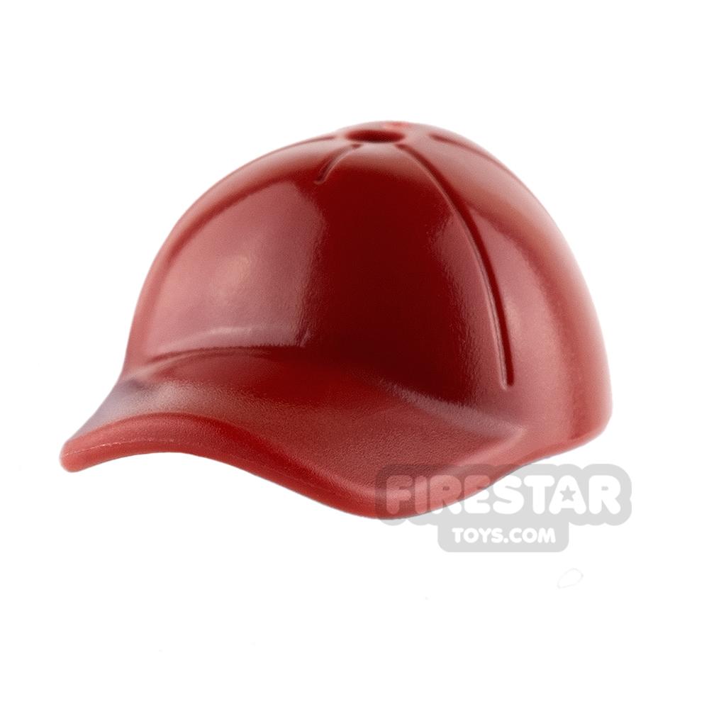 LEGO - Cap with Seams - Dark Red