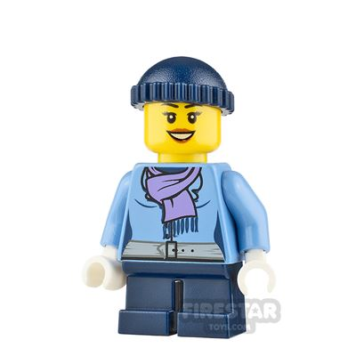 LEGO City Minifigure Knit Cap and Scarf