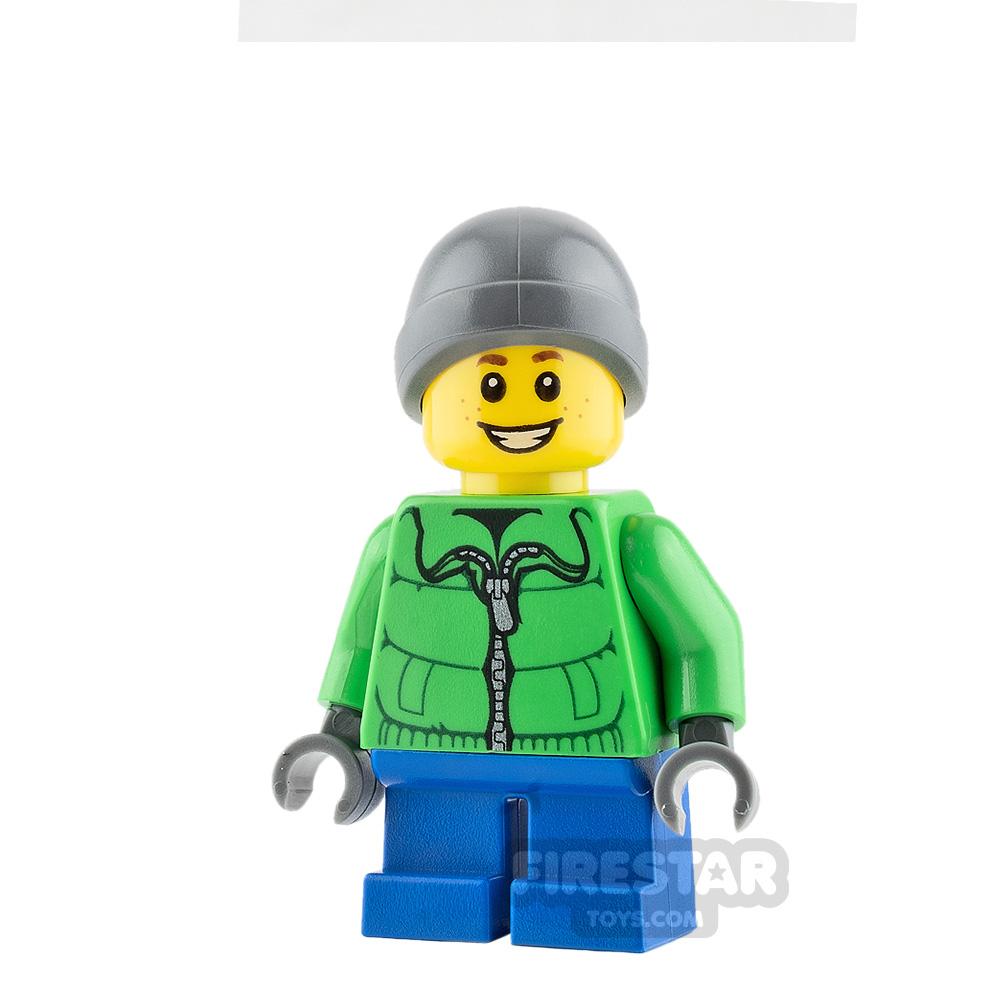 LEGO City Minifigure Bright Green Winter Jacket