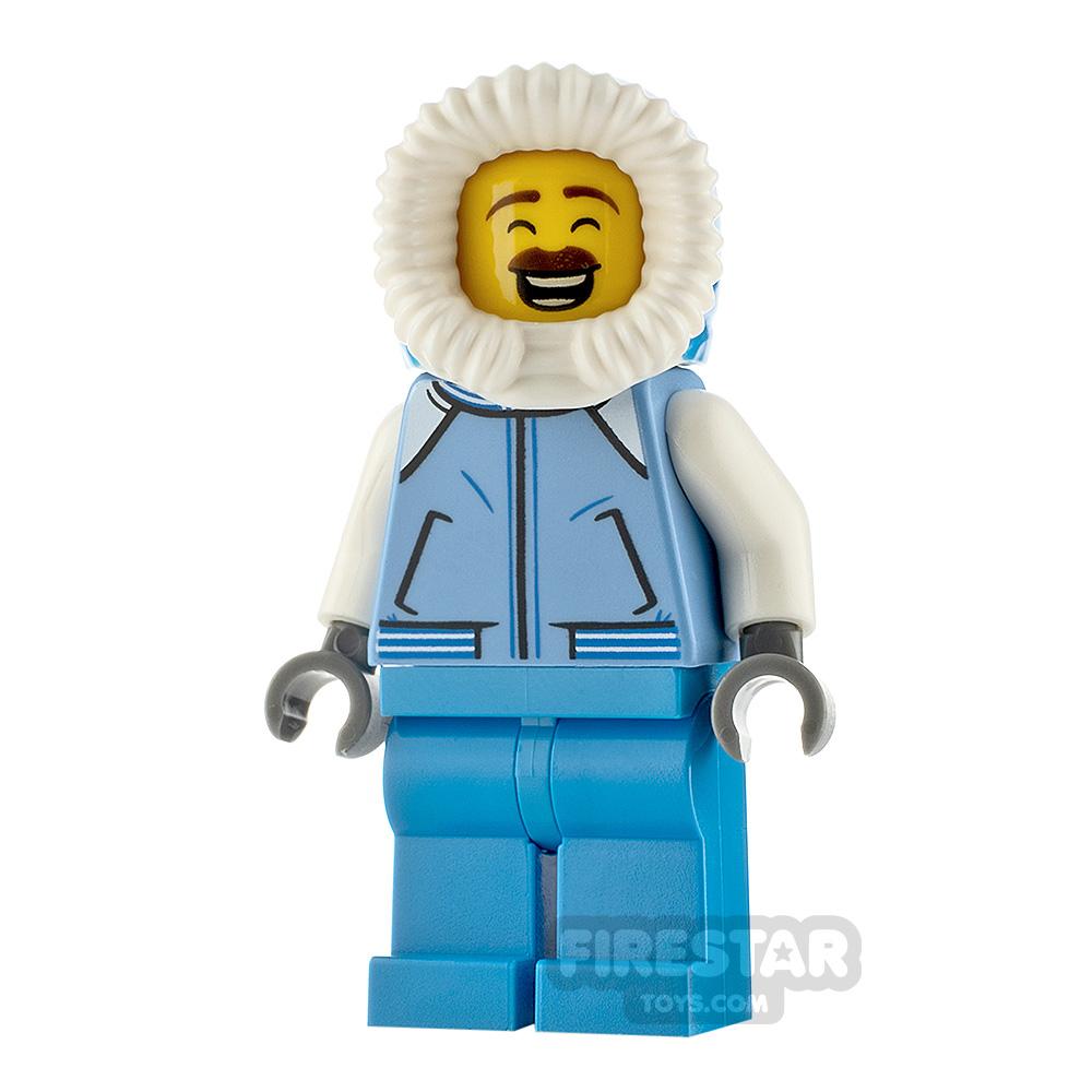 LEGO City Minfigure Sweeper Medium Blue Jacket