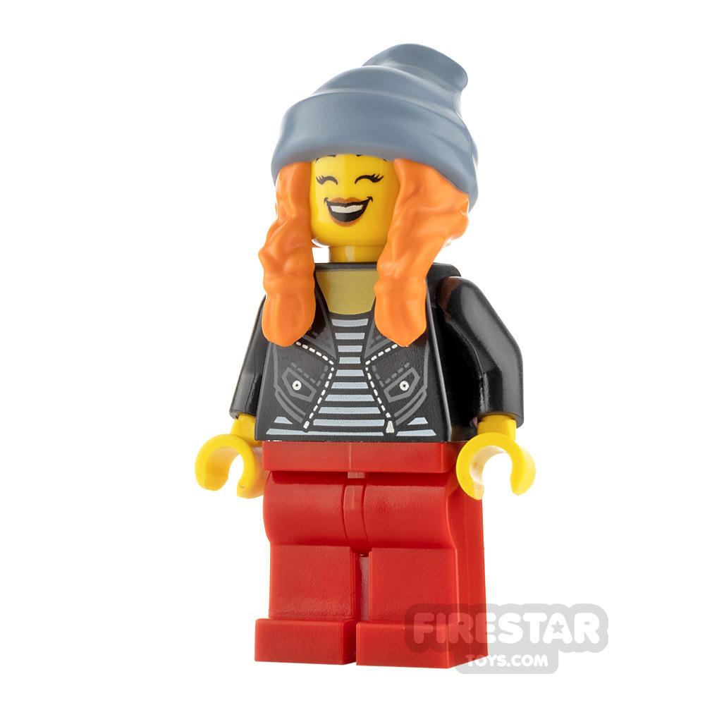 LEGO City Minfigure Woman Striped Top