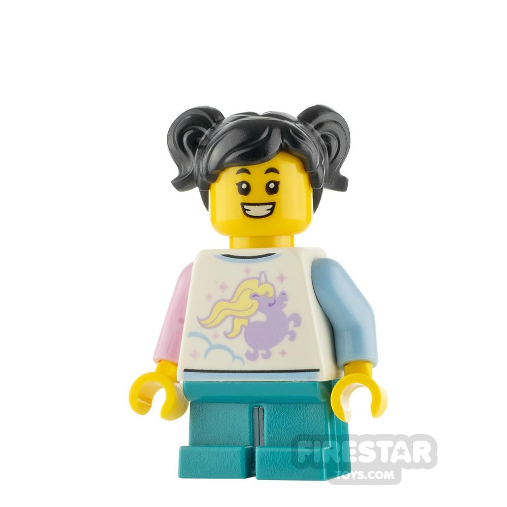 LEGO City Minifigure Girl with Unicorn Shirt