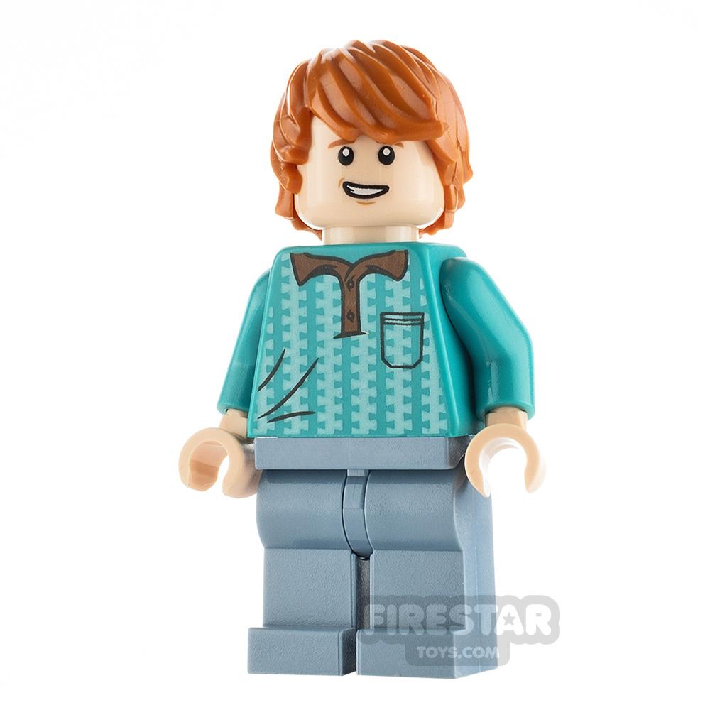 LEGO Harry Potter Minifigure Ron Weasley Turquoise Shirt