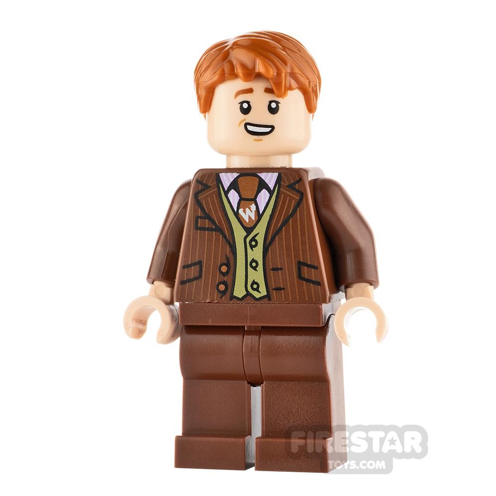 LEGO Harry Potter Minifigure George Weasley Reddish Brown Suit