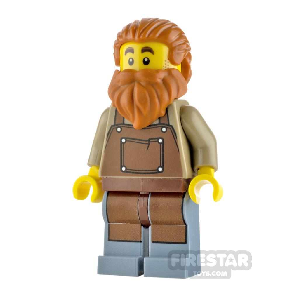 LEGO Ideas Minifigure Blacksmith Brown Apron