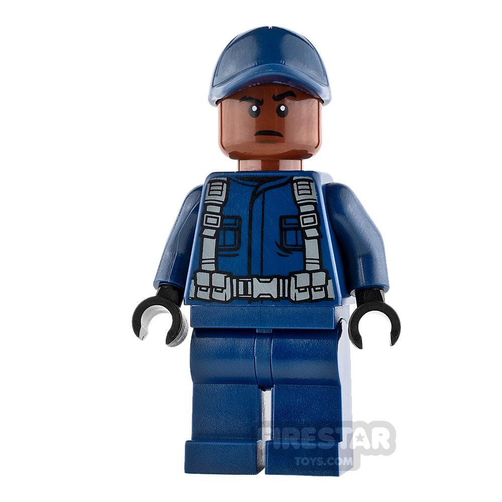 LEGO Jurassic World Figure - Guard - Reddish Brown Head