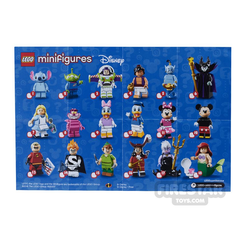 LEGO - Disney Minifigures Collectable Leaflet