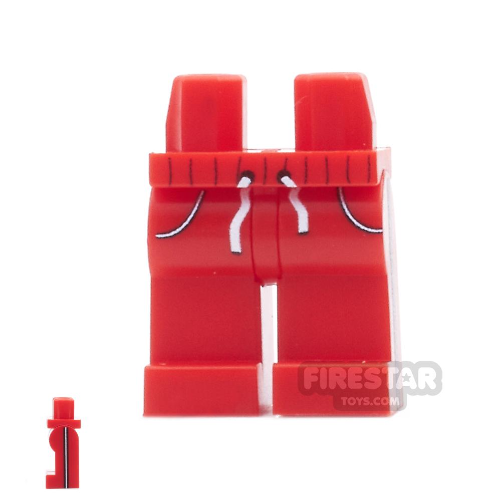 Custom Design Legs - Jogging Bottoms - Red