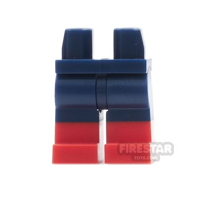 LEGO Mini Figure Legs - Dark Blue with Red Boots