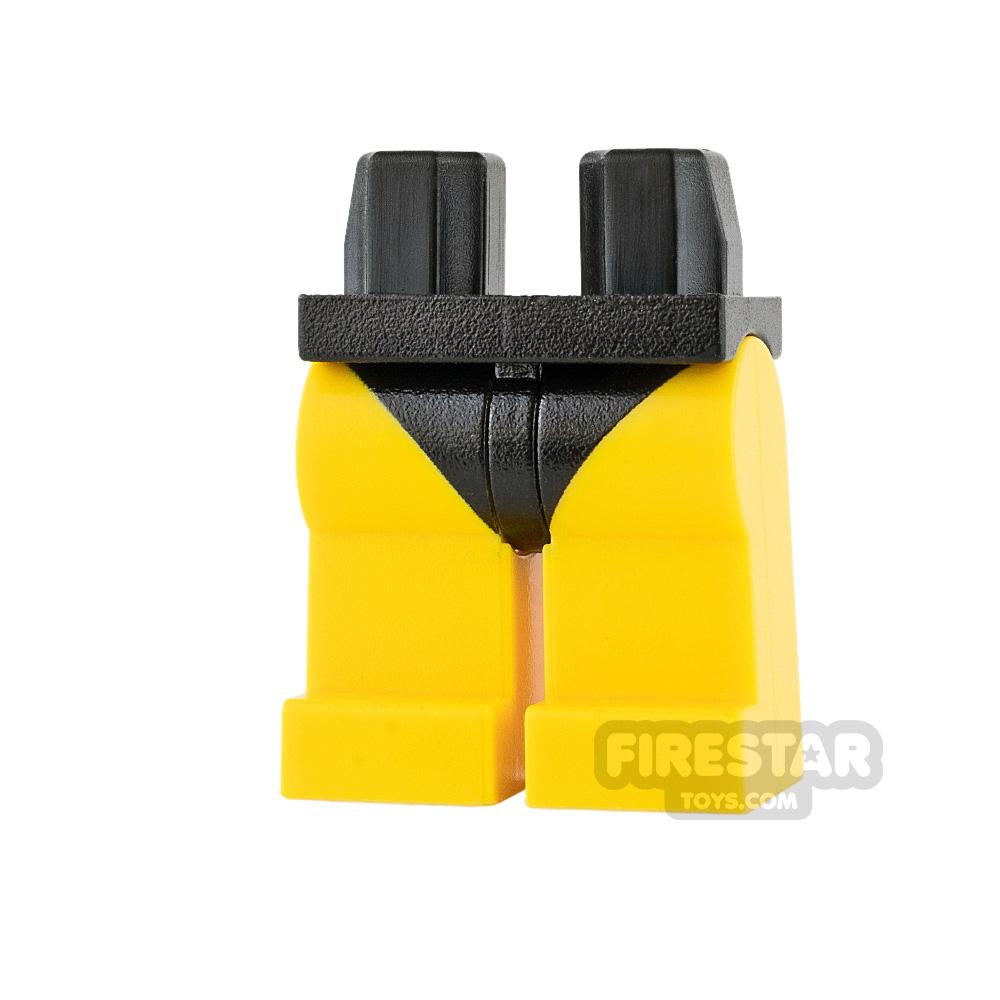 Custom Design Legs - Bikini Bottoms - Black - Yellow