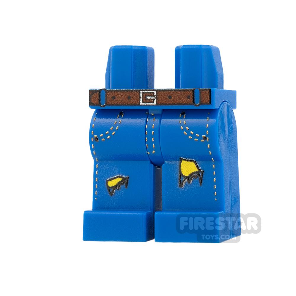 Custom Design Legs - Ripped Jeans - Blue - Yellow