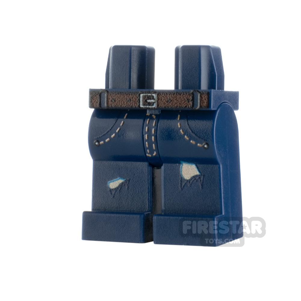 Custom Design Legs - Ripped Jeans - Dark Blue