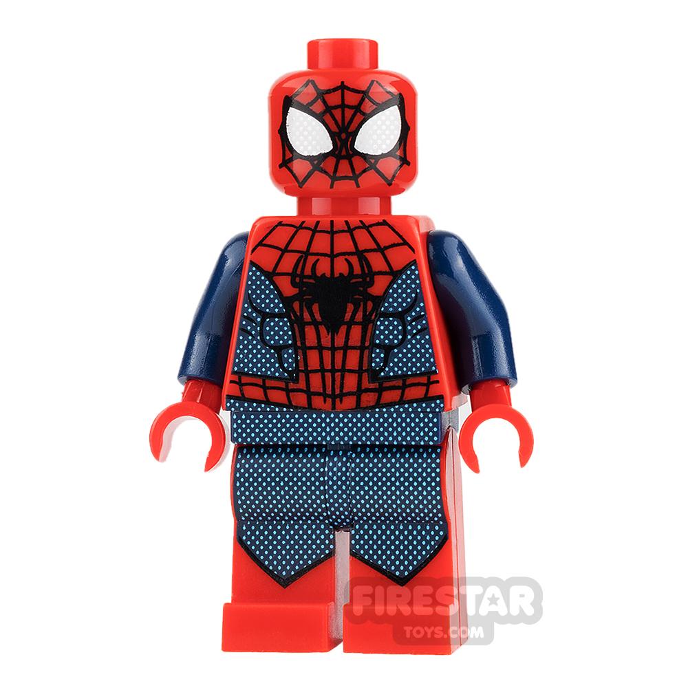 Custom Design Minifigure Spiderman Dark Blue and Red Suit
